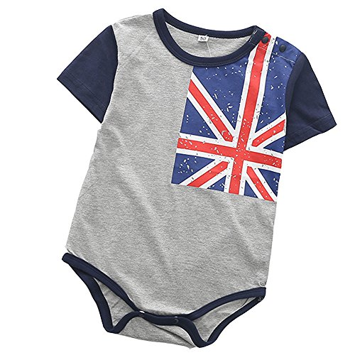 - Infant Baby Girl Boy Romper, US Flags Basic Tshirt Bodysuit for Newborn Patriotic Outfits Blue