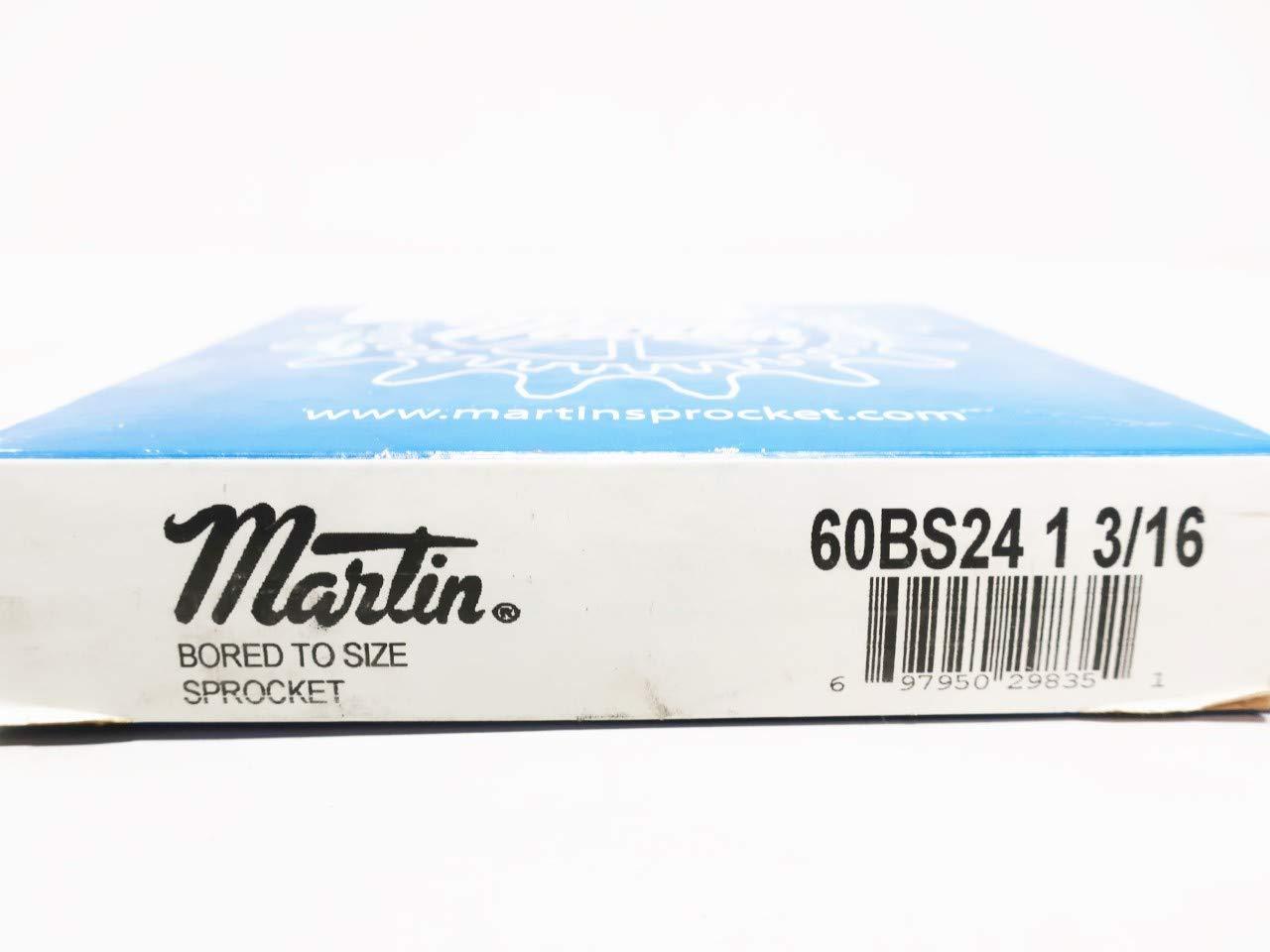 MARTIN 60BS24 1 3//16 1-3//16IN 24T 3//4IN Single Roller Chain Sprocket