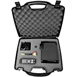 SECURE Video Projector Travel Hard Carrying Case w/ Dense Foam for All Lumens / LCD / LED: WhaleStone Mini , Crenova XPE460 , iDGLAX iDG-787 , Ezapor Mini , iRulu Portable , iClever IC-P01