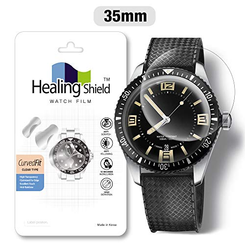 Smartwatch Screen Protector Film 35mm for Round Wrist Watch Healing Shield Analog Watch Glass Screen Protection Film (35mm) [1PACK]