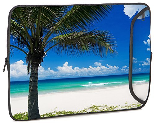 designer-sleeves-141-neoprene-laptop-bag-case-with-zippered-pocket-blue-paradise-beach-14ds-bh2