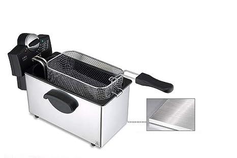 Mankvis Freidora eléctrica Cilindro Individual Frustrador Comercial de Uso doméstico Máquina frita Patata Máquina del Plato