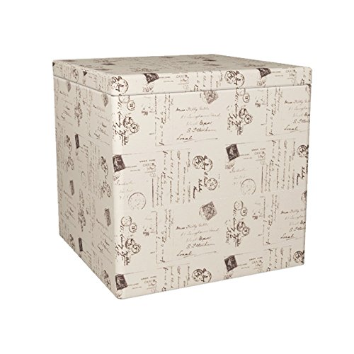 RGI Home Natural Square Fabric Storage Ottoman White Review