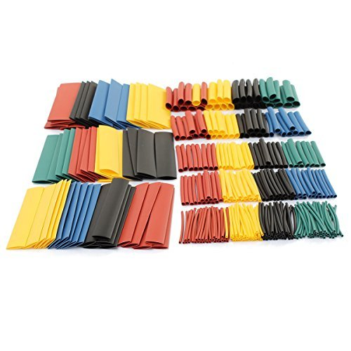 Temp Blue Connector (Heat Shrink Tubing 328pcs Wire Wrap Cable Sleeve Assortment Ratio 2:1 Electric Insulation Tube - MultiColor)