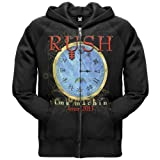 Rush - Mens Time Machine Clock Zip Hoodie