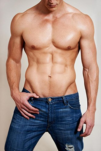 Man of Muscle Hot Guy in Jeans Photo Art Print Poster 24x36 inch