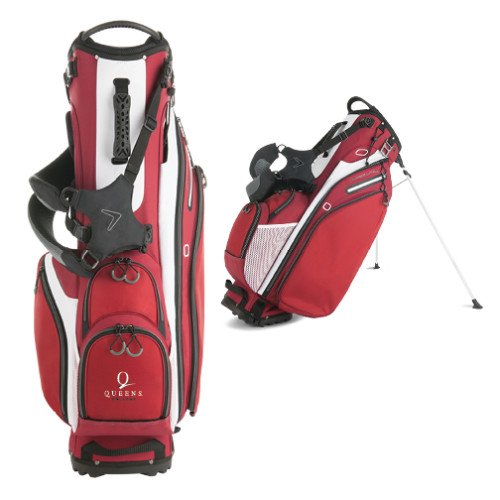 Queens College Callaway Hyper Lite 4 Red Stand Bag 'Official Logo' by CollegeFanGear