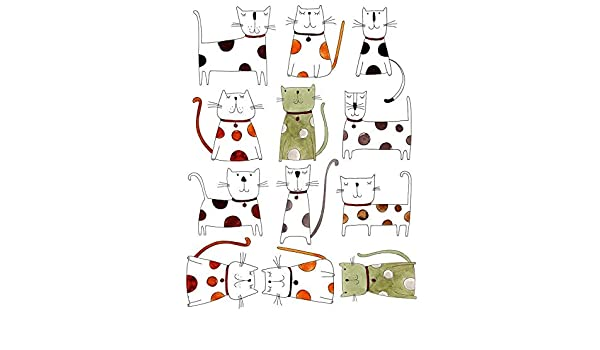 Waterslide Decal Ceramic Decal Choose Either Ceramic Images or Glass Fusing Decals Enamel to Choose from Tall Tale Cats 70424175 Glass Decal Enamel Decal 3 Different Size Sheet