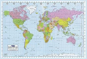 Politische Weltkarte Poster Political Wall Map 140cm X 100cm U