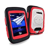 Tuff-Luv Silicone Twin Dual layer Double Protective Skin Case for Garmin Edge 520 - Black / Red
