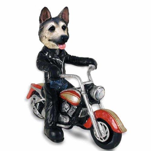 German Shepherd Tan/Black Motorcycle Doogie Collectable ()