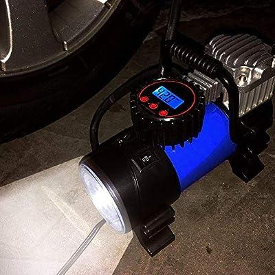 LYSNSH 12V DC Portable Air Compressor - 150 PSI Digital Tire Inflator Tire Pump with Pressure Gauge: Automotive
