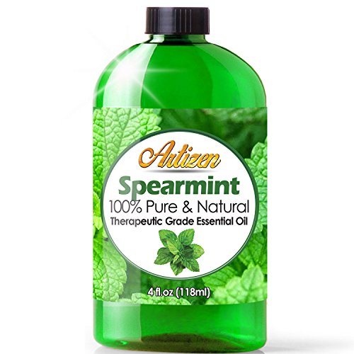Artizen Spearmint Essential Oil (100% Pure & Natural - UNDILUTED) Therapeutic Grade - Huge 4oz Bottle - Perfect for Aromatherapy, Relaxation, Skin Therapy & More!