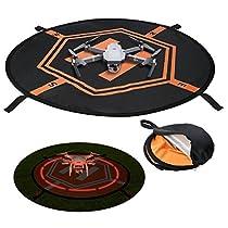 Drone Landing pad, Universal Waterproof Portable Fast-Fold UAV Landing Pad for Parrot Disco AR Drones Helicopter, 3D Robotics Solo; PVB Drones, DJI Mavic Pro Phantom 2/3/4/ Pro, Antel R