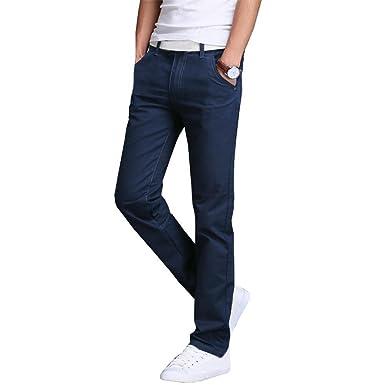 549c91dce575 Fashion ER Autumn and Winter Men Business Casual Pants Cotton Slim Straight  Trousers Long Pants Royal Blue  Amazon.co.uk  Clothing