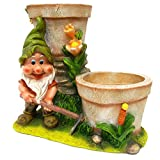 Gardening Gnome With 2 Large Flower Pots For Sale