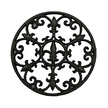 Cast Iron Trivet, Bestplus Potholders Tablemat with Rubber Legs for Kitchen or Dining Table Decor Round TF006