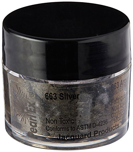 Jacquard Pearl EX Powdered Pigments 3 Grams-Metallics - Silver