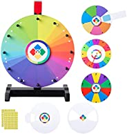 """WinSpin 12"""" Spinning Wheel Teaching Aid Material Math Words Time Game Templates Kids Early Skill Develo"""