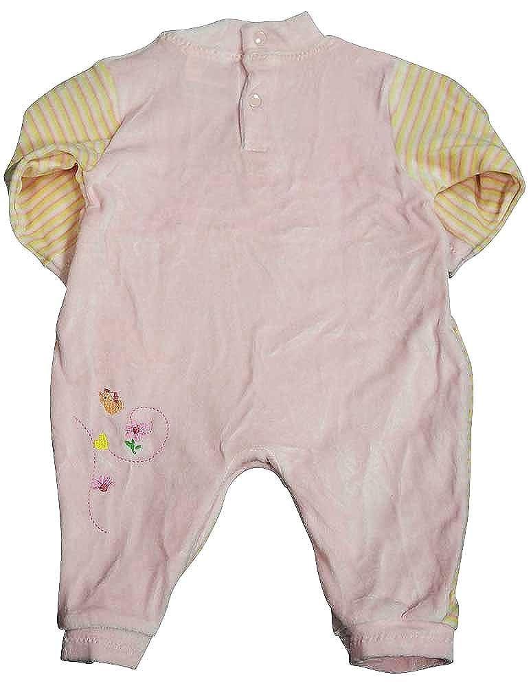 BEYOND BASIC KIDS Baby Girls Long Sleeved Velour Coverall