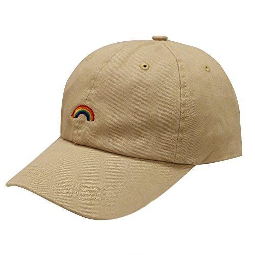 (City Hunter C104 Rainbow Cotton Baseball Cap 12 Colors (Khaki))