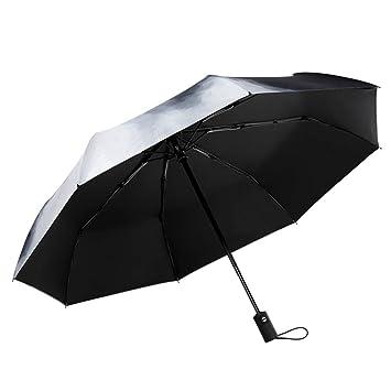 SX-ZZJ Paraguas Plegables Paraguas Paraguas Paraguas Protección UV Parasol Plegable de Doble Uso Paraguas Plegable portátil Paraguas portátil Compacto ...