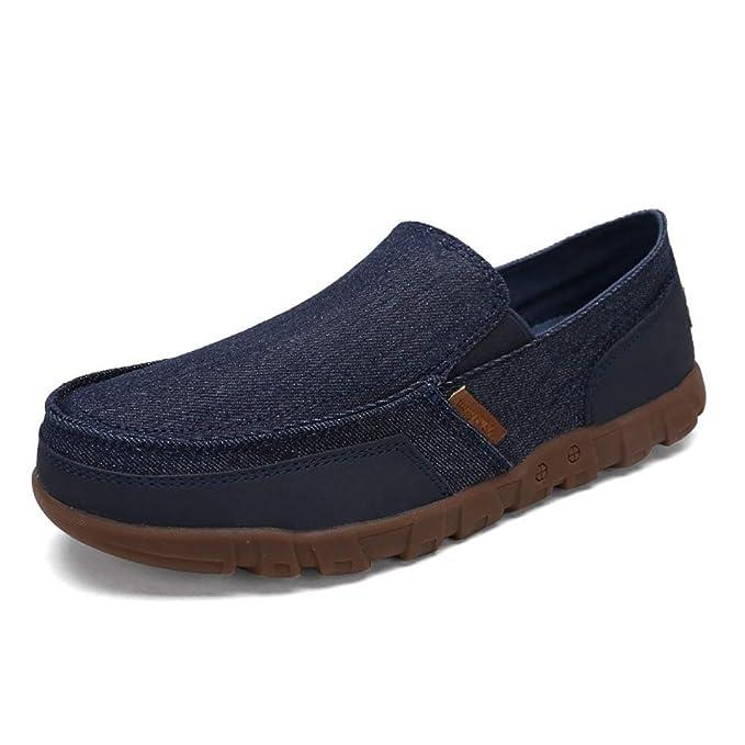 Zapatillas de lona para hombre Zapatillas de lona antideslizantes Zapatos de playa de verano de alpargata: Amazon.es: Ropa y accesorios