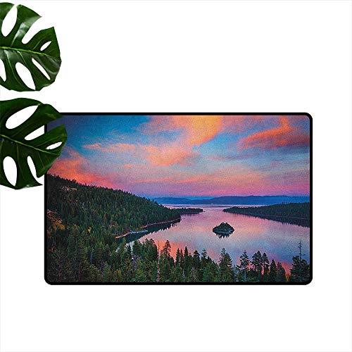 Anzhutwelve Lake Tahoe,Floor Mats California Photography Rustic Themes Sundown Time Freshwater Sierra Nevada Lake 20