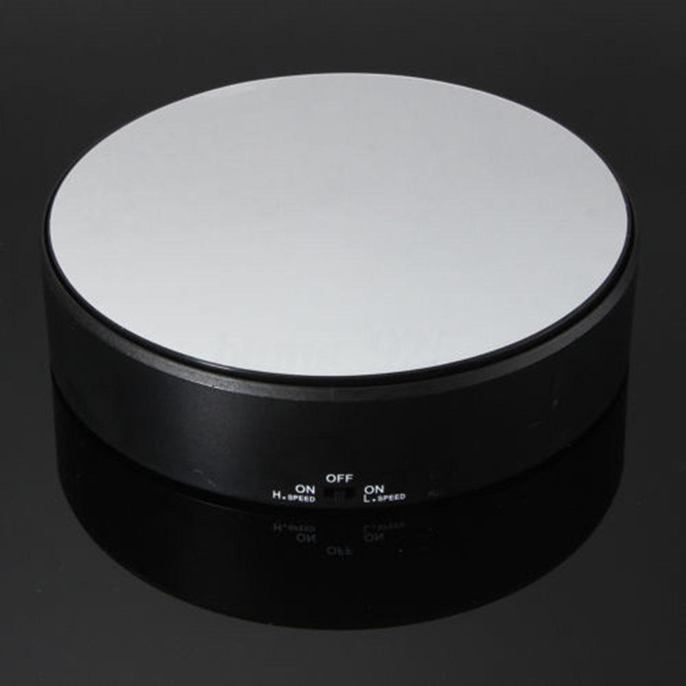 D DOLITY Soporte Giratorio de 360 Grados de Energ/ía Solar Exibici/ón para Tel/éfono Joyas Carga 1000g, 7.6 x 7.6 x 7.5 cm Blanco