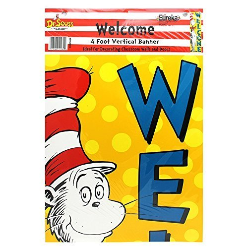 EUREKA VERTICAL BANNER CAT IN THE HAT (Set of 12)
