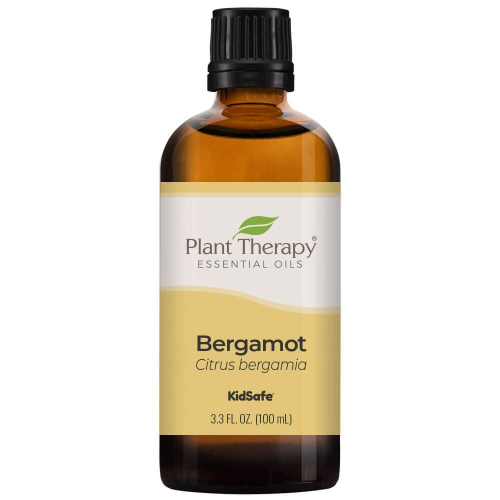 Plant Therapy Bergamot Essential Oil 100% Pure, Undiluted, Natural Aromatherapy, Therapeutic Grade 100 mL (3.3 oz)