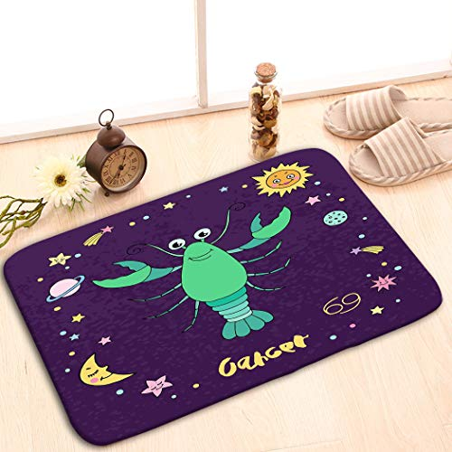 Mats Vintage Fashion Washable Fabric Placemats for Dining Room Kitchen Table Decoration 23.6(L) x 15.7(W) Cancer Zodiac Sign Night Sky Stars Sun Moon Planets e