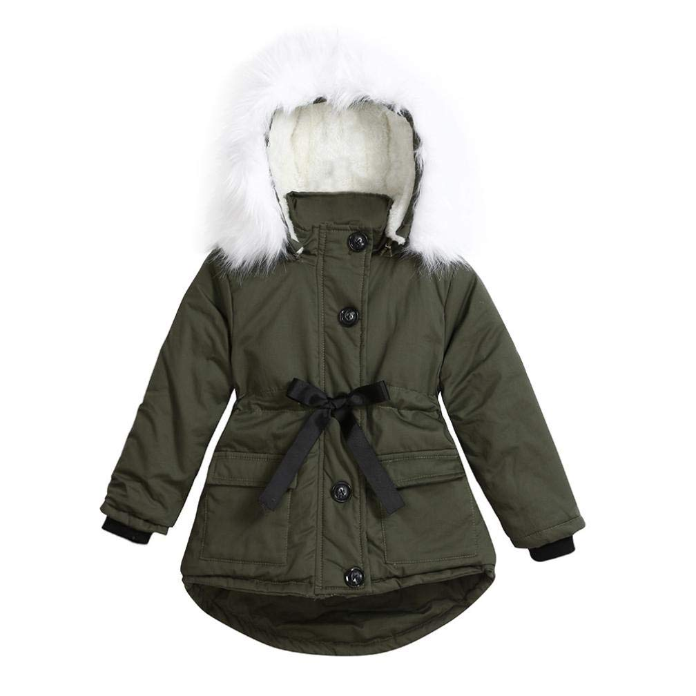 Moonker Kids Down Coat 2-4 Years Old,Girls Children Winter Warmplus Padded Thick Outerwear Clothes Heaveyweight Jacket