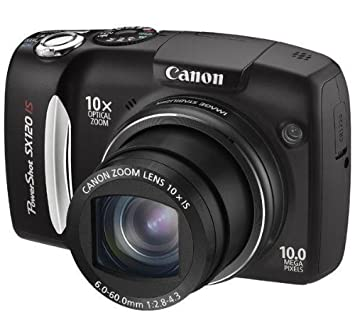 "Canon PowerShot SX120 IS Cámara compacta 10MP 1/2.5"" CCD 3648 x 2736Pixeles Negro"
