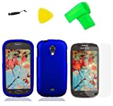 Blue Hard Case Phone Cover + Extreme Band + Stylus Pen + LCD Screen Protector + Yellow Pry Tool for Samsung Galaxy Light T399 t 399 SGH-T399 / Garda, Best Gadgets