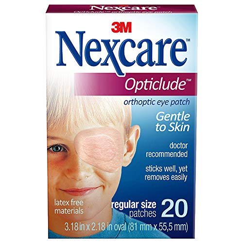 Nexcare Opticlude Orthoptic Eye Patches Regular 20 Each (Pack of 4)
