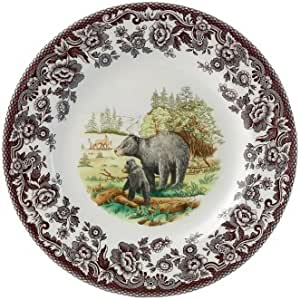 Canadian Moose Porcelain Plate w// Display Stand