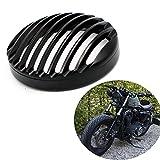 5 3/4'' Black Aluminum Headlight Grill Cover For Sportster Roadster XL1200R XL883 883 Custom XL883C/XL1200C Low XL883L/XL1200L Iron 883 XL883N
