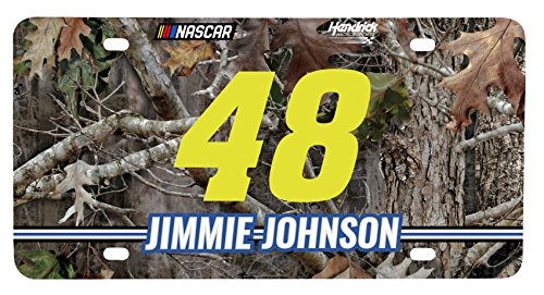 (NASCAR #48 Jimmie Johnson Real Tree Metal License Plate-NASCAR Real Tree Camouflage Car Tag )