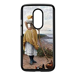 Daydreaming by Eugene de Blaas Black Hard Plastic Case for Moto X2 by Painting Masterpieces + FREE Crystal Clear Screen Protector