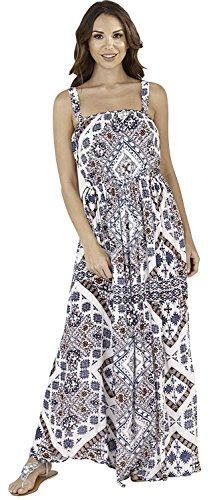 femme vert pour Blue Maxi 2 bleu la 100 coton plage Idal Aztec bretelles ou Tropical Vibrant pour robe tFEq6wEZ