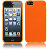 Schutzhülle für Apple iPhone SE / 5 / 5s - Slim TPU Silikon Case in Opak Orange von PrimaCase