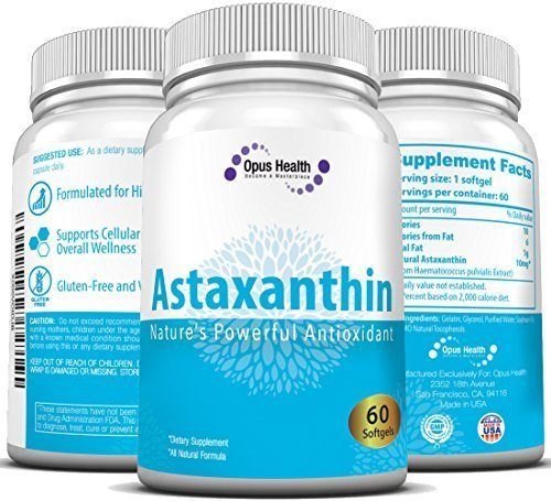 Astaxanthin 10mg (60-Day Supply) Softgels; Nature's Potent Antioxidant & (Carotenoid Antioxidant)