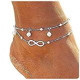 CrazyPiercing-Anklet-Bracelet-8-Shape-Ankle-Bracelet-for-Women-Double-Chain-Ankle-Bracelets-Infinity-Endless-L