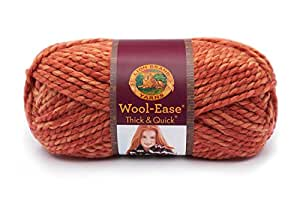 Lion  640-524 Wool-Ease Thick & Quick Yarn , 97 Meters, Tangerine