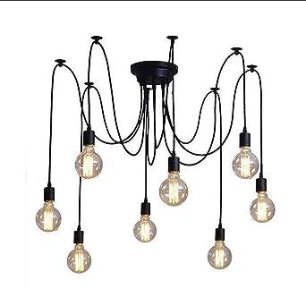 DiseñO Moderno LáMpara De Bricolaje NóRdico Retro Luz Que Cuelga Luces Led Edison Luces ArañA Luces