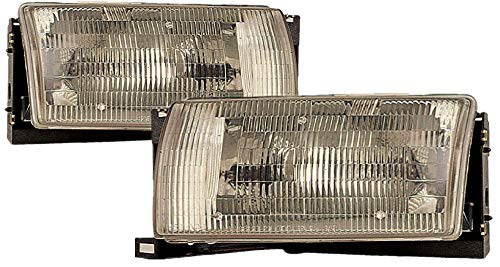 (For 1993 1994 1995 Nissan Quest Headlights Headlamps Driver Left and Passenger Right Side Pair Set Replacement NI2502118 NI2503118)