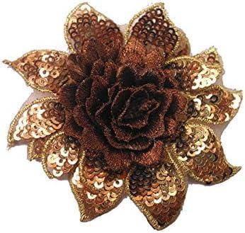 3d Petal Flower Sequined Applique Motif SEW ON 5 pieces 2 cm diameter