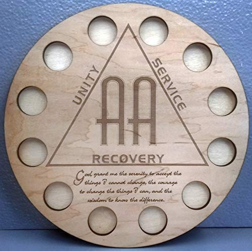 - Alcoholics Anonymous AA Sobriety Chip/Recovery Medallion Display 1