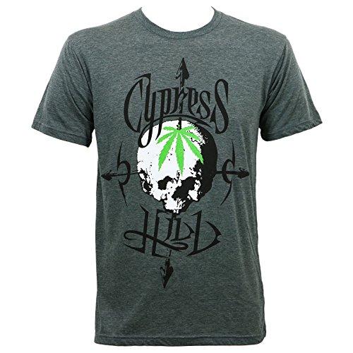 Cypress Hill Men's Pot Head Slim Fit T-Shirt Heather Gray XL Cypress Pot